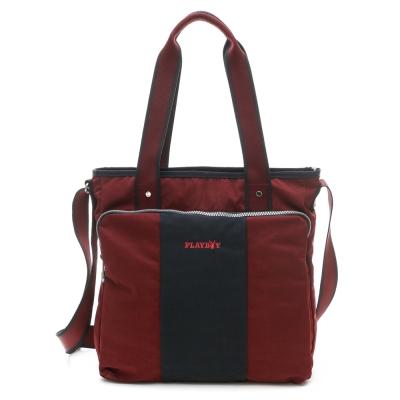 PLAYBOY-S-Stylos-系列2WAY大肩背包-紅色