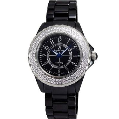 Royal Crown 風華絕代陶瓷晶鑽錶(黑/40mm)
