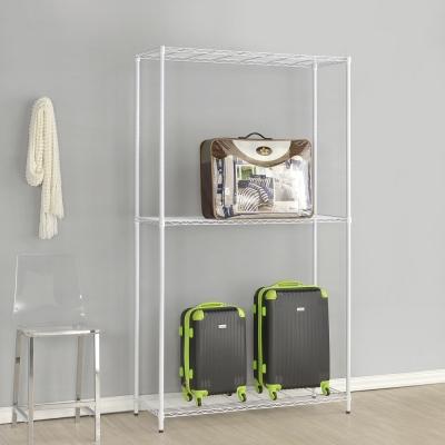 海克力士-三層烤漆白色鐵架60x45x180cm