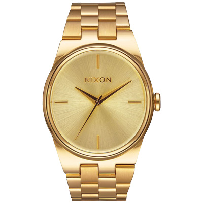 NIXON IDOL 唯美星河轉念時尚腕錶-金/35mm