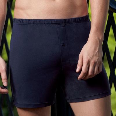 DAYNEER-寬鬆舒活 素面極簡四角褲(丹寧藍)