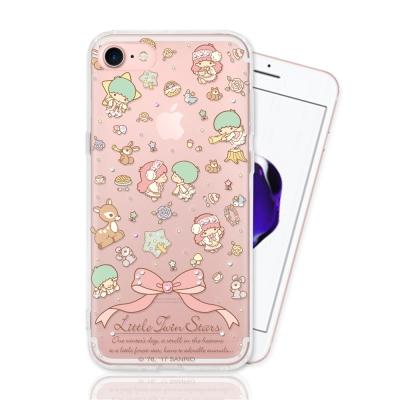 KIKILALA 雙子星 iPhone 7 彩繪空壓手機鑽殼-森林物語