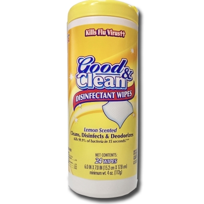 Good&Clean消毒濕巾-檸檬香氣(24抽)