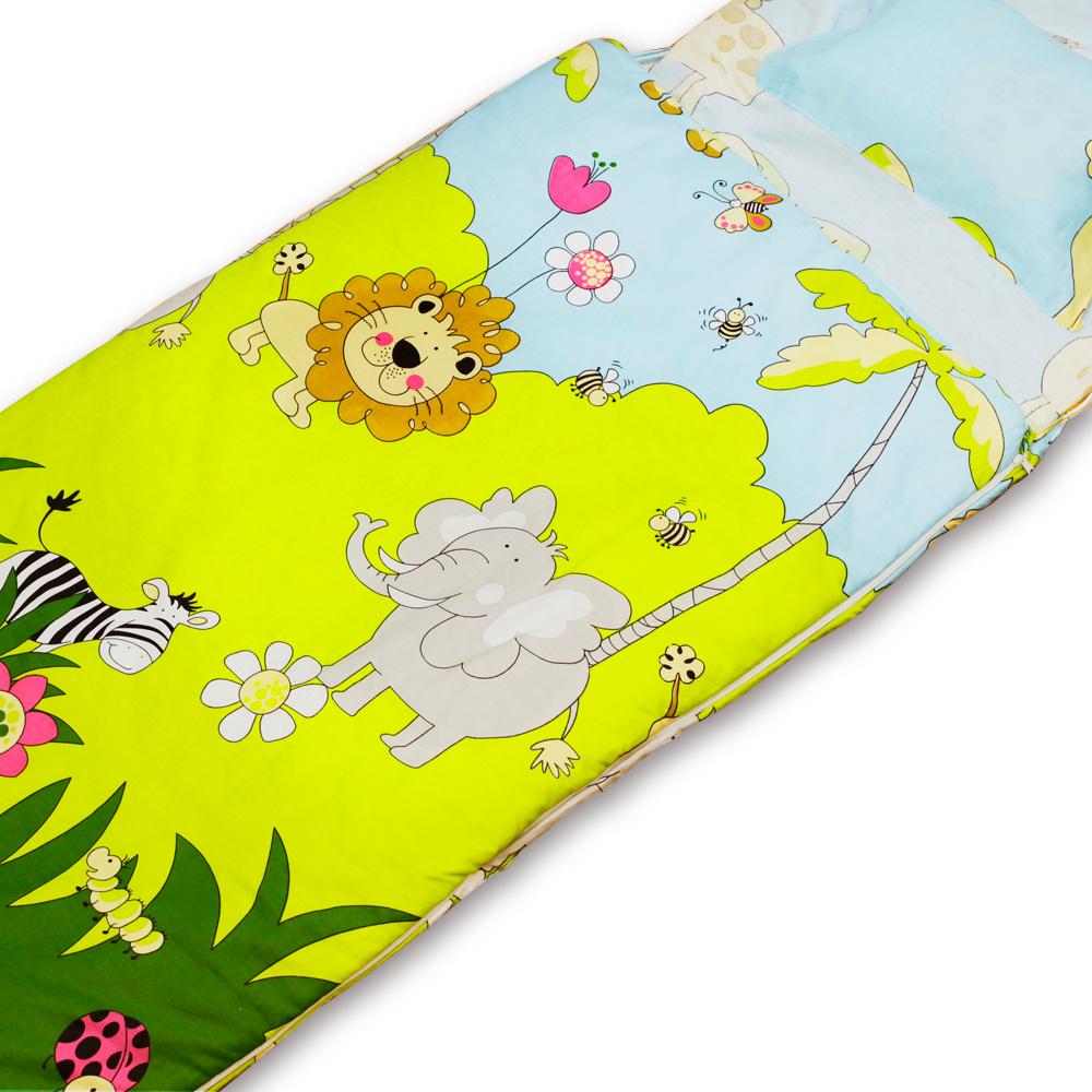 BEDDING 森林王國 100%棉多功能冬夏兩用鋪棉兒童睡袋