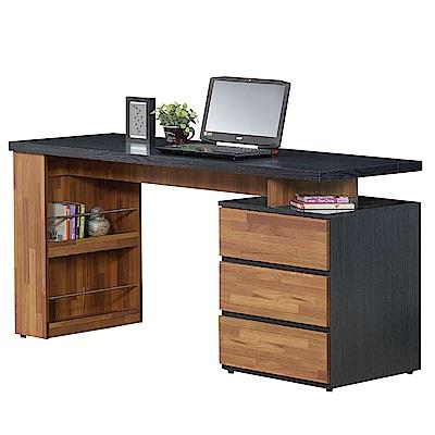 AT HOME-約翰5尺鐵刀柚木電腦書桌(150*60*76cm)