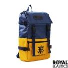 Royal Elastics - 撞色潮流休閒後背包 - Light輕盈羽量系列 - 藍/黃