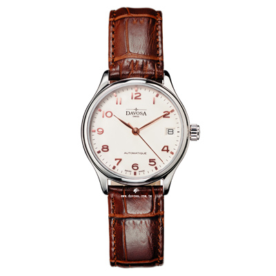 DAVOSA Classic 經典三針機械女錶-象牙白/34mm