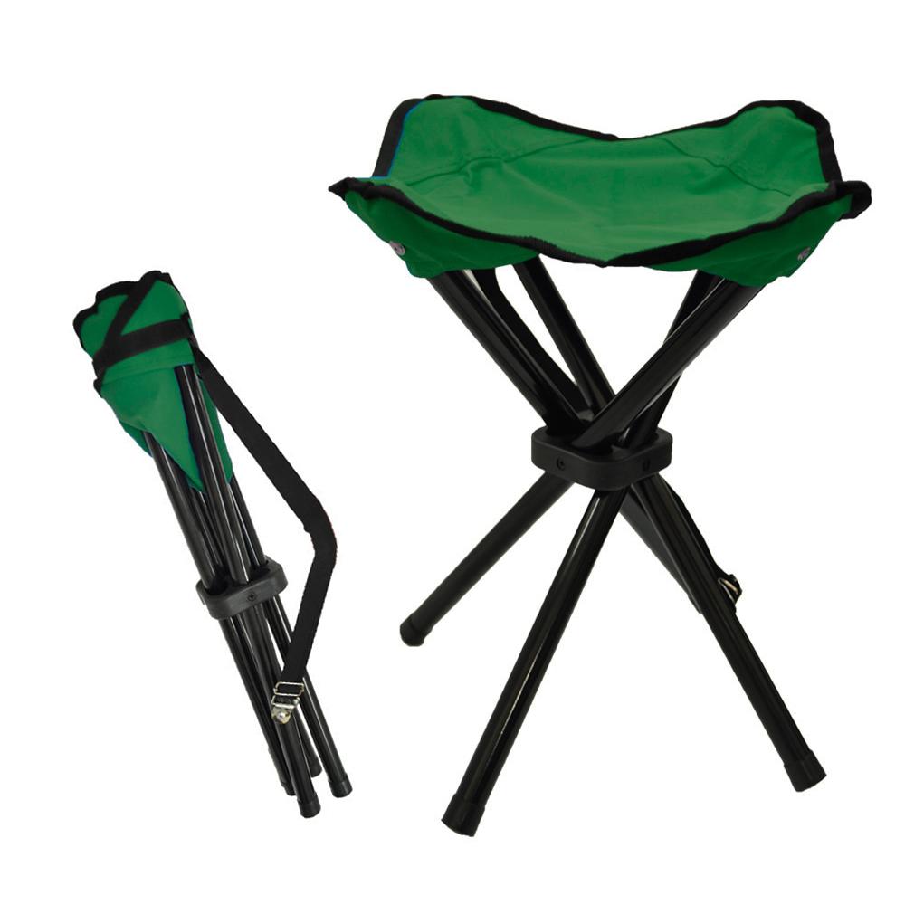 戶外便攜加厚牛津布耐重折疊椅 釣魚椅 (綠) -快速到貨