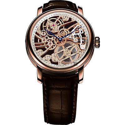 AEROWATCH 精湛文藝手動上鍊機械腕錶-45mm