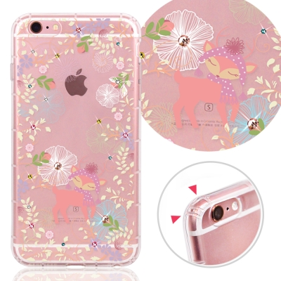 YOURS APPLE IPhone6 / 6s 奧地利水晶彩繪防摔氣墊手機鑽殼...