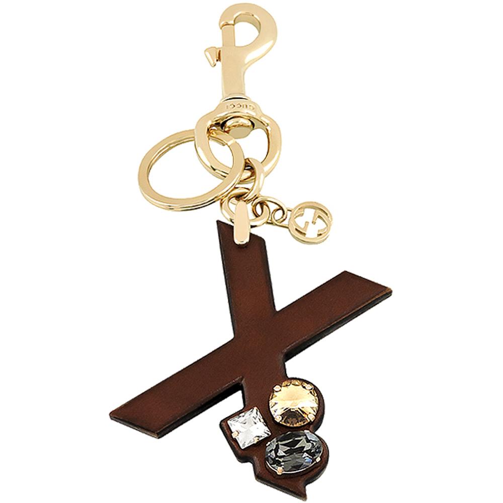 GUCCI 字母「X」水晶鑲嵌鑰匙圈GUCCI