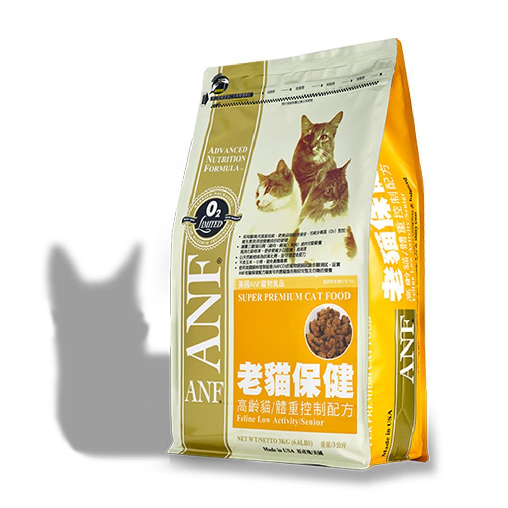 美國愛恩富ANF 老貓保健配方 貓飼料7.5kg
