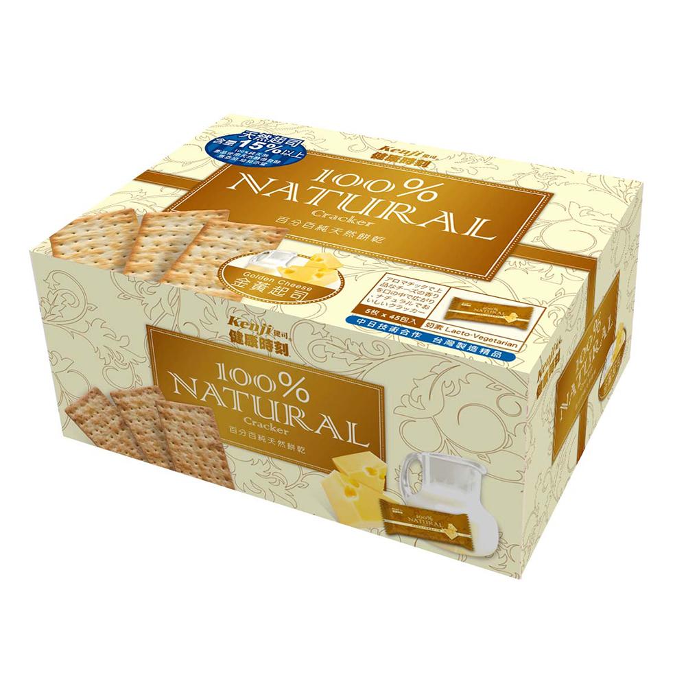 Kenji 健康時刻-100%純天然金黃起司餅禮盒(28.5gx45入)