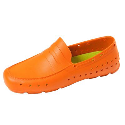 (男/女)Ponic&Co美國加州環保防水洞洞懶人鞋-橘色