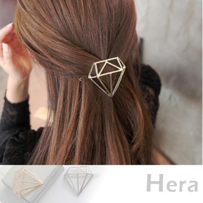 Hera 赫拉 立體線條鑽石型髮夾/邊夾/髮扣