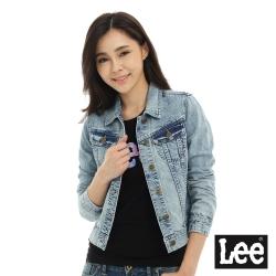 Lee 牛仔Vintage Laundry外套-女-淺藍色