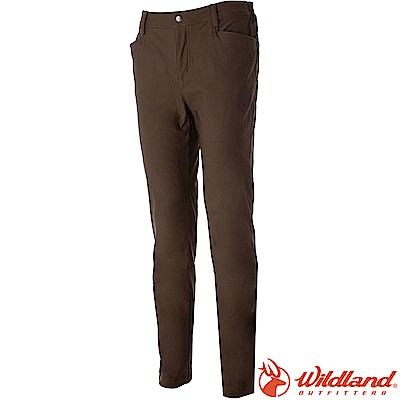 Wildland 荒野 0A52368-63深卡其 男RE超彈性舒適保暖長褲