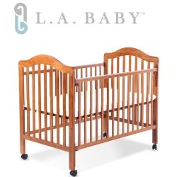 (美國 L.A. Baby) 米爾頓嬰兒大床咖啡色