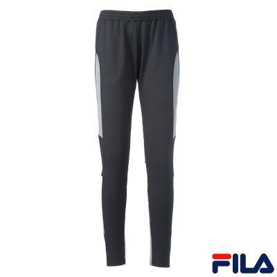 FILA女吸濕排汗抗UV針織長褲-黑-5PNQ-5322-BK