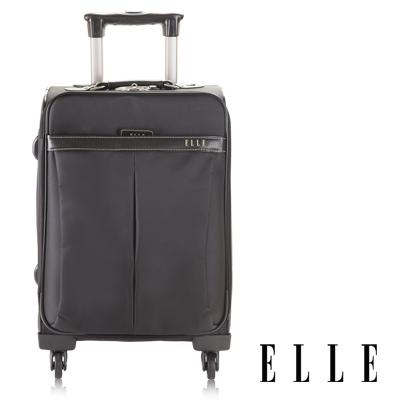 ELLE-經典魅力時尚設計款-20吋-高單寧防水耐磨布-時尚限定款-知性黑