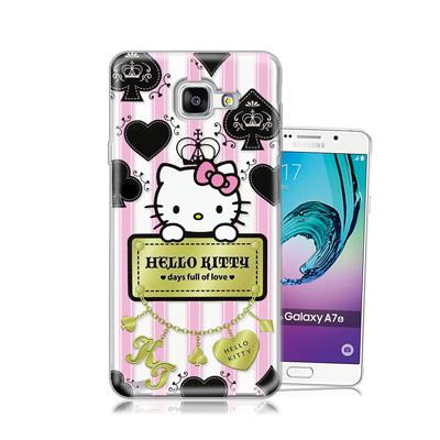 三麗鷗正版 凱蒂貓 Samsung Galaxy A7(2016)透明軟式保護殼...