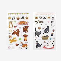 Dailylike日日美好手帳貼紙組 貓貓與狗
