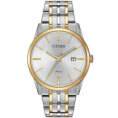 CITIZEN星辰 成熟睿智簡練鋼帶石英男錶(BI5004-51A)-銀/39mm