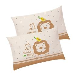 小獅王辛巴 大地系有機棉兒童枕(31X48cm)2入組
