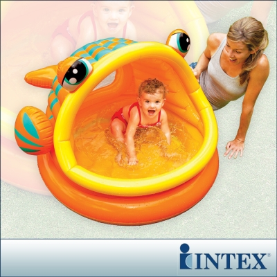 INTEX BABY金魚游泳池/遮陽嬰兒水池 (53L)