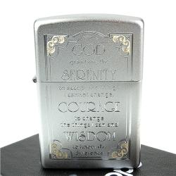 【ZIPPO】美系~Serenity Prayer-寧靜禱告文雕刻設計打火機