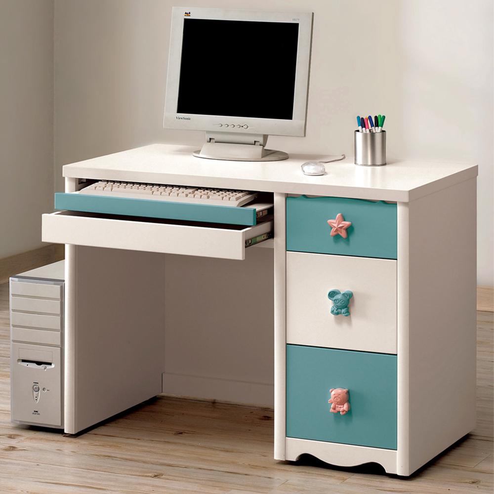 【CASA卡莎】丹尼爾3.2尺電腦桌(藍色)(到府組裝)