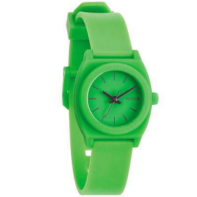 NIXON TIME TELLER P 躍動普普個性腕錶-綠/24mm