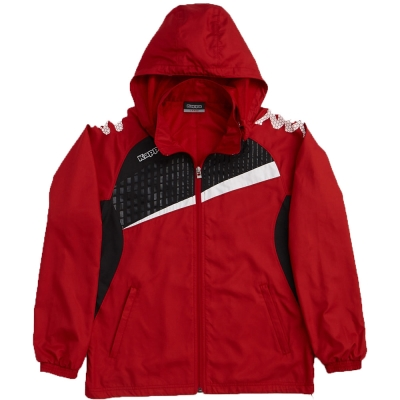 KAPPA義大利時尚型男單層風衣(可拆帽)~紅