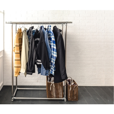 家可 超耐重不鏽鋼雙桿伸縮曬衣架