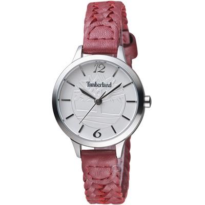 Timberland光輝交會時尚女腕錶(TBL.15265LS/01B)-31mm/白x紅