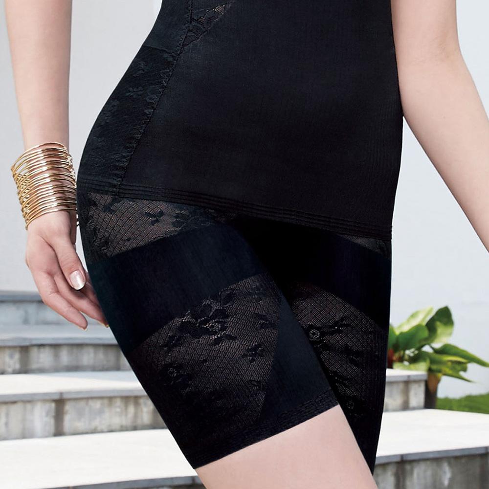 曼黛瑪璉 美型顯瘦 中腰中管束褲S-XL(黑)