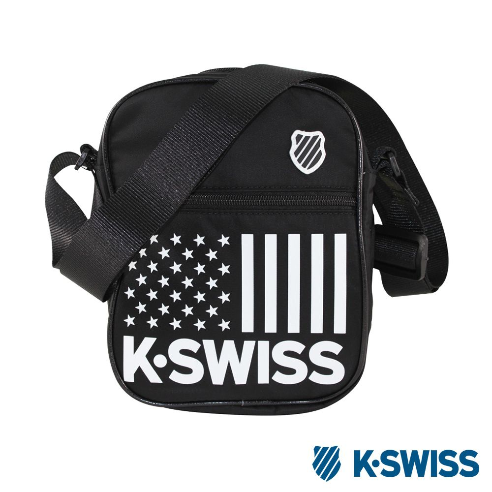 K-Swiss CS-Shoulder Bag休閒斜背包-黑