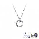 彩糖鑽工坊 Fragille 心有獨鐘系列 愛心銀項鍊