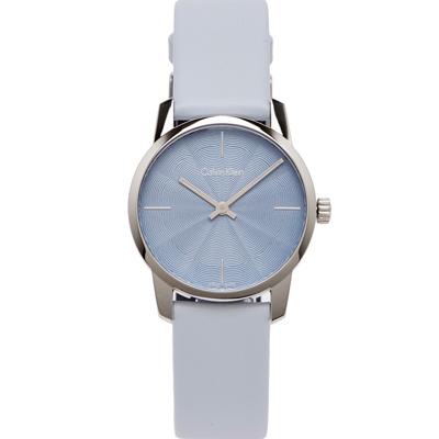 Calvin Klein 水波紋設計款手錶(K2G231VN)-水波紋面x藍色/31mm