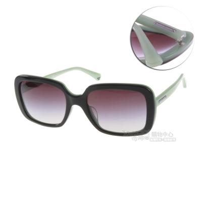 EMPORIO ARMANI太陽眼鏡 時尚方框/黑-粉綠#EA4007F 50458G