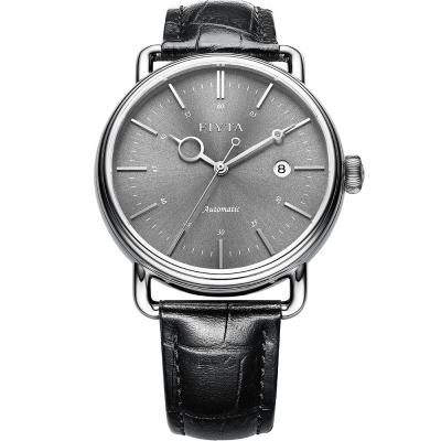 FIYTA飛亞達  經典系列復古機械錶款(GA802002.WHB)-黑色/42mm