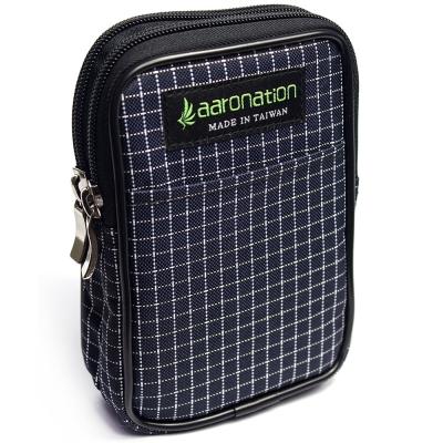 aaronation 愛倫國度 -雙層拉鍊隨身包AN-2547S-藍白