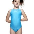 聖手牌 水藍素面小選手連身式專業泳裝