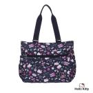 Hello Kitty-悠遊星空系列- 兩用手提包-深藍色-KT01Q03NY