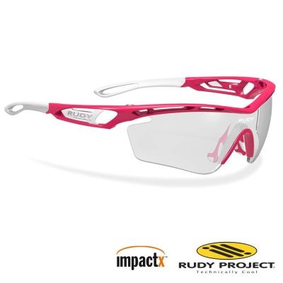 【Rudy Project】TRALYX 專業防爆變色運動眼鏡_寶石紅框+黑色變色片