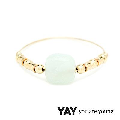 YAY You Are Young 法國品牌 Cleo 天河石戒指 經典款 金色