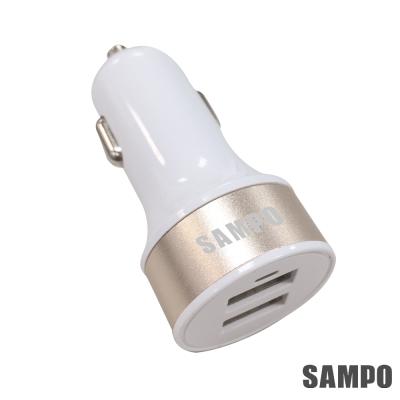 SAMPO 聲寶4.8A 雙USB車用充電器-DQ-U1502CL