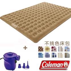 Coleman N607+17662 充氣睡墊+打氣機+床包組  270帳篷用充氣床