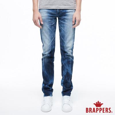 BRAPPERS 男款 HM-中腰系列-中腰彈性直筒褲-藍
