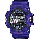 G-SHOCK GBA-400音樂控制系列錶款-靛藍紫(GBA-400-2A)/52mm